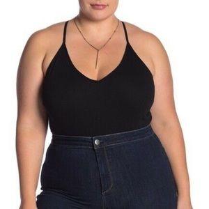 NEW BP. Black V-Neck Ribbed Bodysuit 🌿